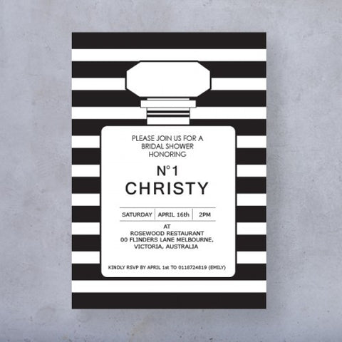 Chanel-Inspired Theme - Invitation Card