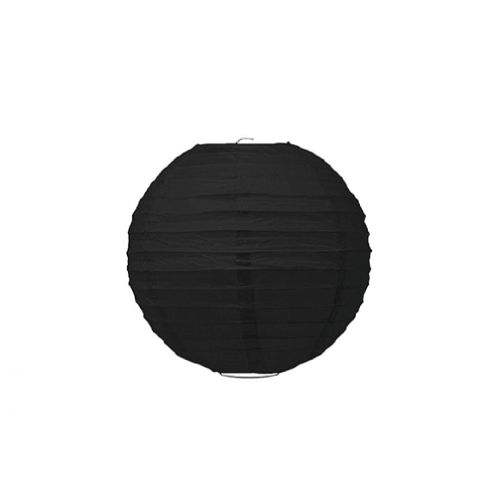 Charcoal Black Sphere Paper Lantern