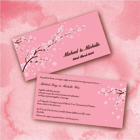 Cherry Blossom - Wedding Invitation Card