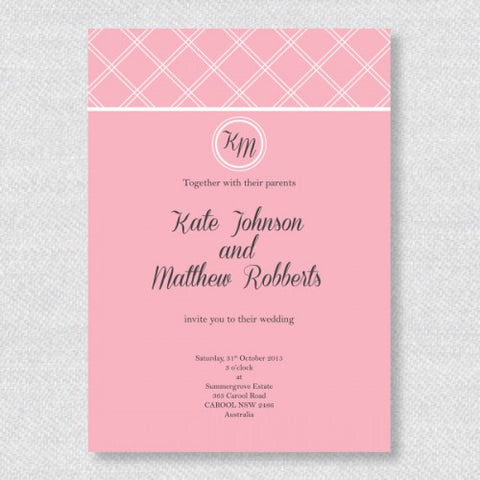 Classic Checkered  - Wedding Invitation Card