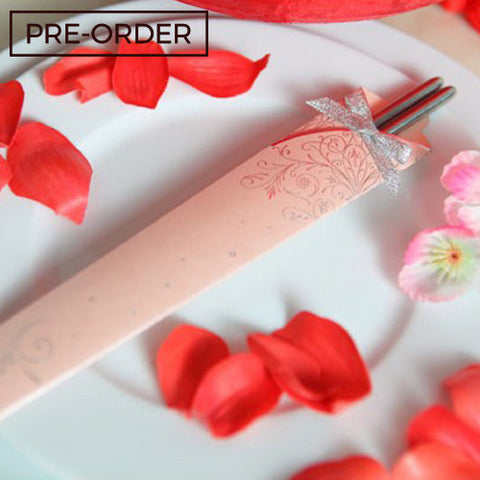 Classic Korean - PINK Chopstick Wedding Favours