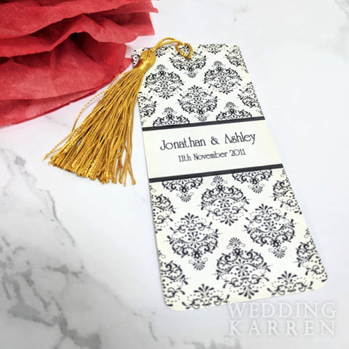 Classic Motif - Bookmark Wedding Favours