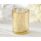 Classic Stripe - GOLD Tealight Holder Wedding Favours