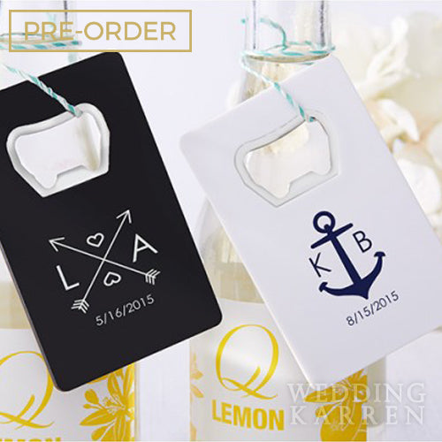 Credit Card Personalized Bottle Opener Wedding Favours
