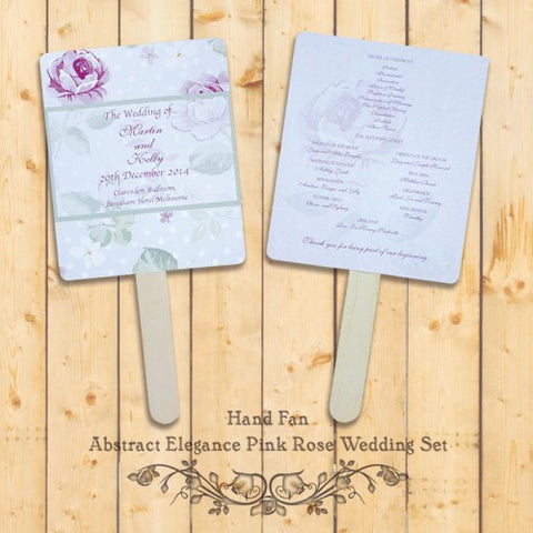 Elegant Floral - Personalized Wedding Program Fan