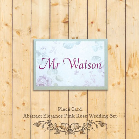 Elegant Floral - Wedding Place Card