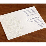 Deboss Collection - ORNATE Wedding Invitation Card