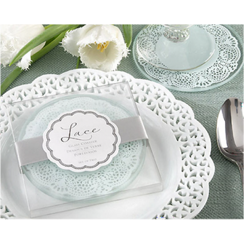 Exquisite Lace - Coaster Wedding Favours