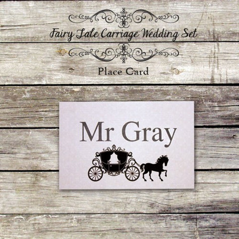 Fairy Tale Carriage - Wedding Place Card