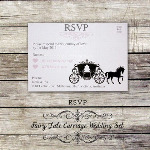 Fairy Tale Carriage - Wedding RSVP Card