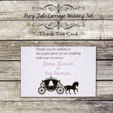 Fairy Tale Carriage - Wedding Thank You Card