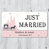 Fairy Tale - Just Married Personalized Car Plate