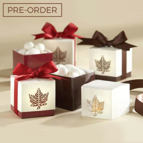 Fall Leaves - Wedding Favours Packaging Box