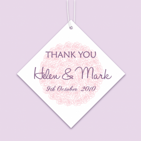Floral Theme - Personalized Wedding Favours Tag
