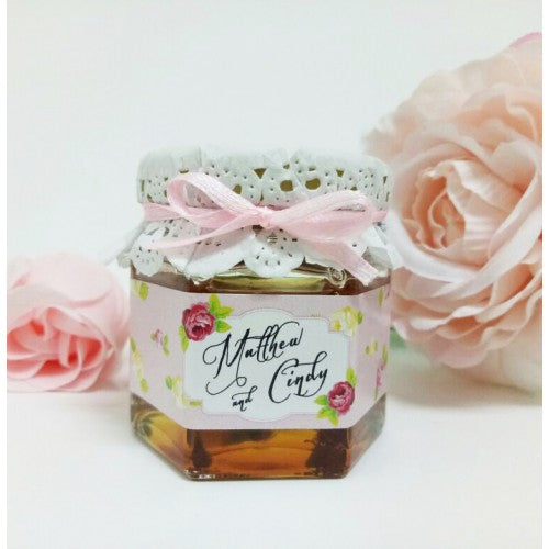 Floral Theme - PINK Mini Honey Wedding Favours