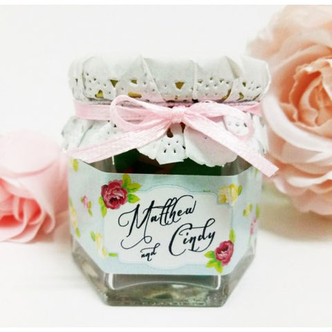 Floral Theme - TIFFANY Mini Jelly Bean Wedding Favours