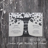 Garden Lights - Wedding Invitation Card