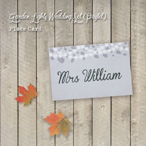Garden Lights - Wedding Place Card