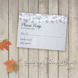 Garden Lights - Wedding RSVP Card