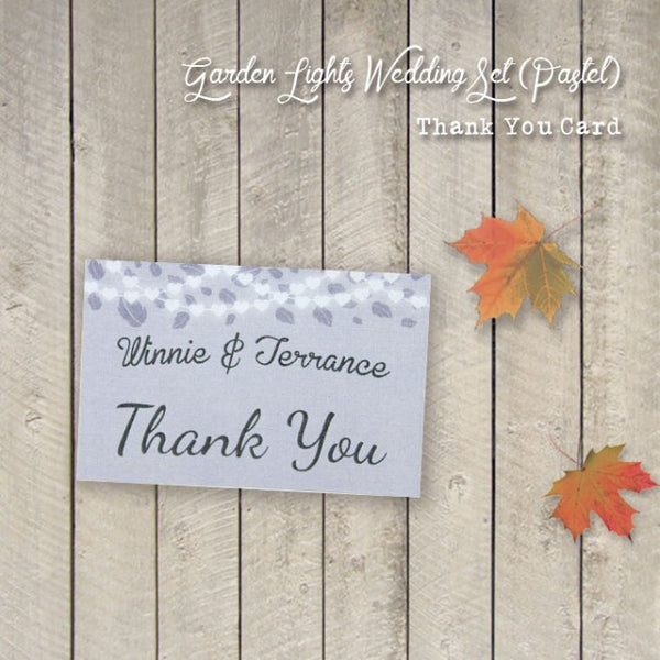 Garden Lights - Wedding Thank You Card