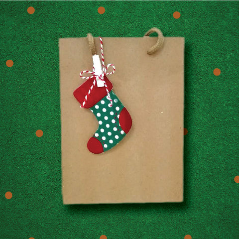 Gift Sock - Christmas Collection Gift Paper Bag