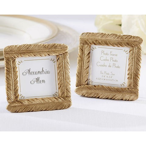 Gold Feather - Photo Frame Favours Door Gifts