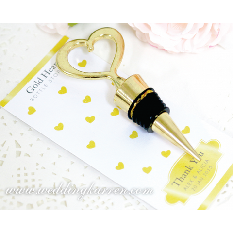 Heart of Gold - Personalized Bottle Stopper Wedding Favours