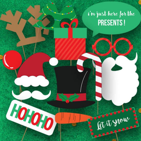 Ho Ho Ho - Christmas Party Photo Booth Props