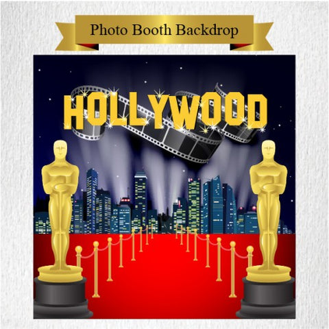 Hollywood Theme - Party Photo Booth Backdrop