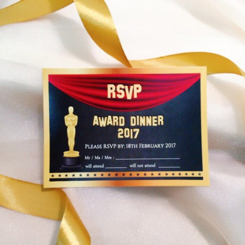 Hollywood Theme - RSVP Card