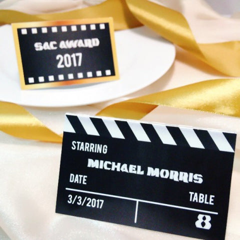 Hollywood Theme - Table Number Card