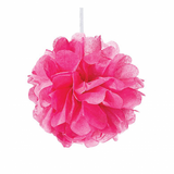 Hot Pink Paper Pom Pom - Small