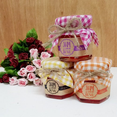 & Jam Packed with Love - Mini Jam Door Gifts - Wedding Karren