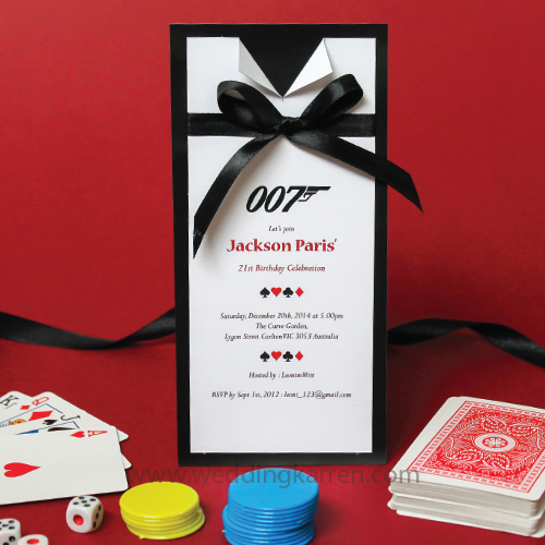 James Bond Theme - Invitation Card