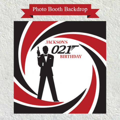 James Bond Theme - Party Photo Booth Backdrop