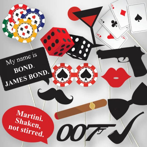 James Bond Theme - Party Photo Booth Props