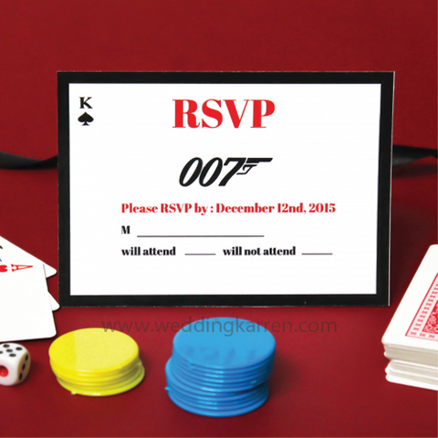 James Bond Theme - RSVP Card