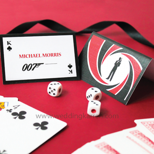 James Bond Theme - Table Number Card