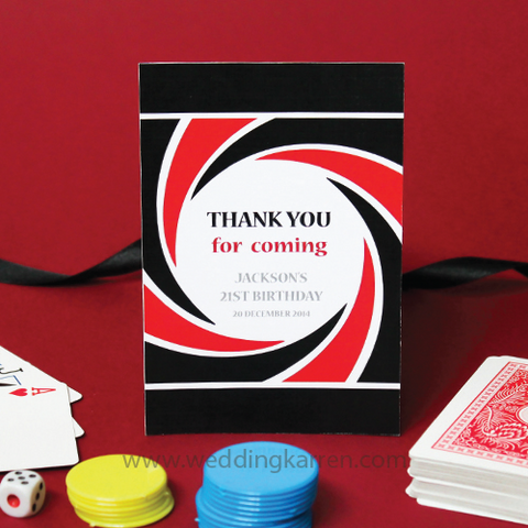James Bond Theme - Thank You Card
