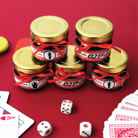 James Bond Theme - Mini Honey Party Favours Door Gifts