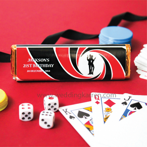 James Bond Theme - Party Kit Kat Favours