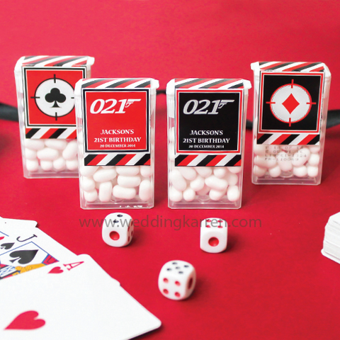 James Bond Theme - Tic Tac Party Favours Door Gifts