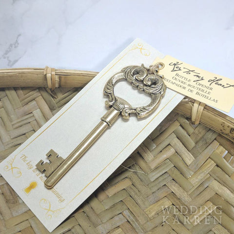 Key to My Heart - ANTIQUE Bottle Opener Wedding Favours