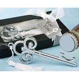 Key to My Heart - CHROME Bottle Opener Wedding Favours