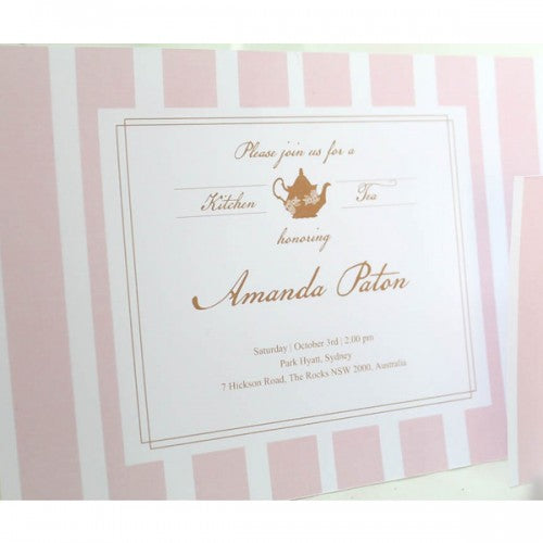 Kitchen Lady Pink Theme - Invitation Card