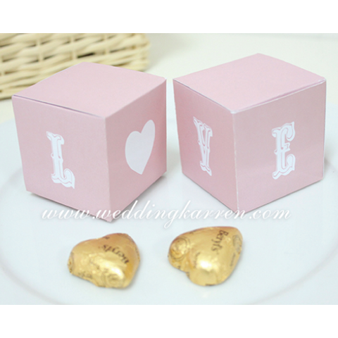 L.O.V.E - Wedding Favours Packaging Box
