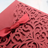 Laser-Cut Collection - RED Wedding Invitation Card