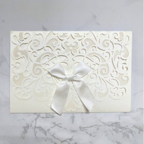 Laser-Cut Collection - WHITE Wedding Invitation Card