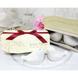 Love Birds - ON TREE Salt & Pepper Shaker Wedding Favours
