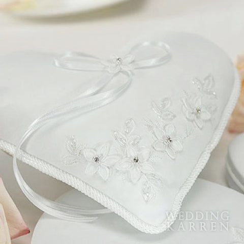 Love Floral Fantasy - Wedding Ring Bearer Pillow